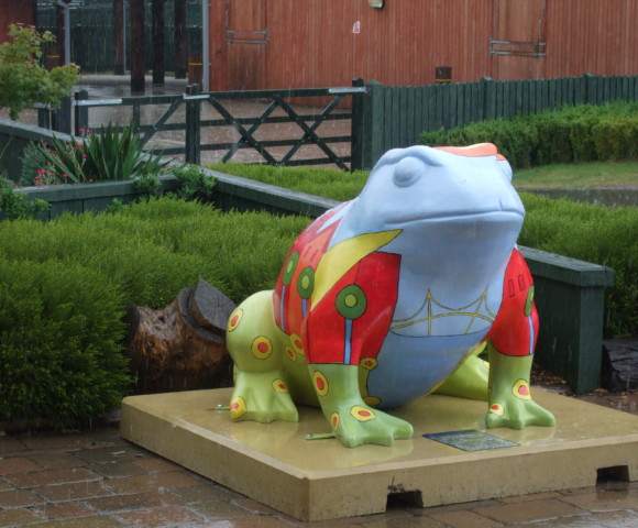 Larkin Toad. Painted with Day Care Service users. Hull