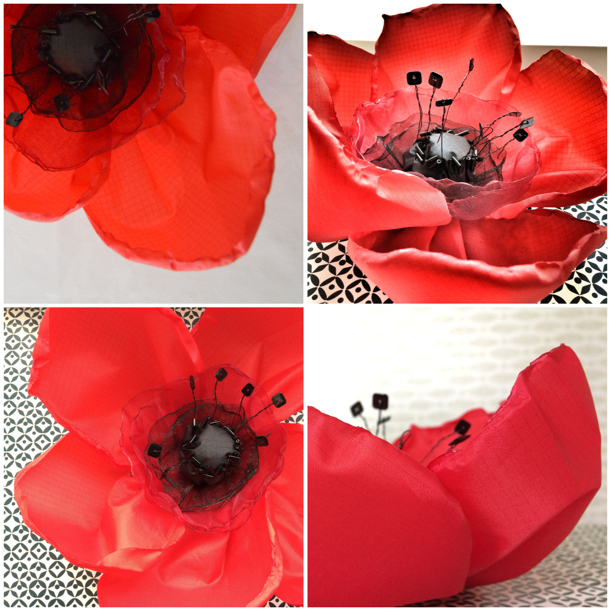 Poppies made with the Women Institute for a remembrance event
