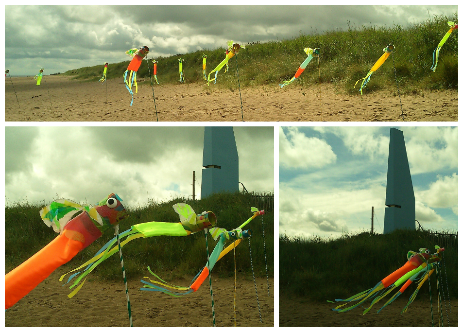 Windsocks made by KS2 for local event