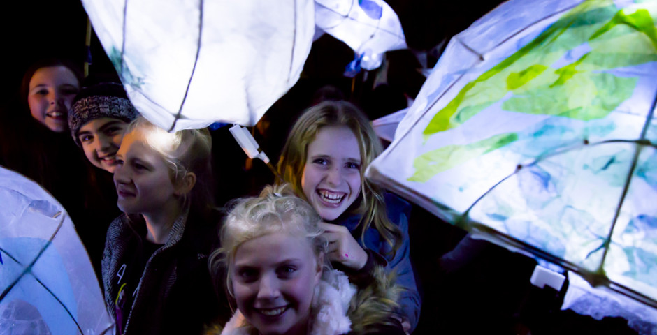 School lantern making. Photo credit Electic egg