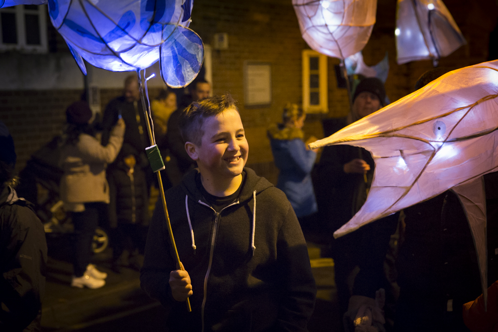 Community lantern making. Photo credit Electic egg