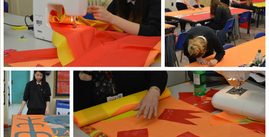 Festival Flags made with students