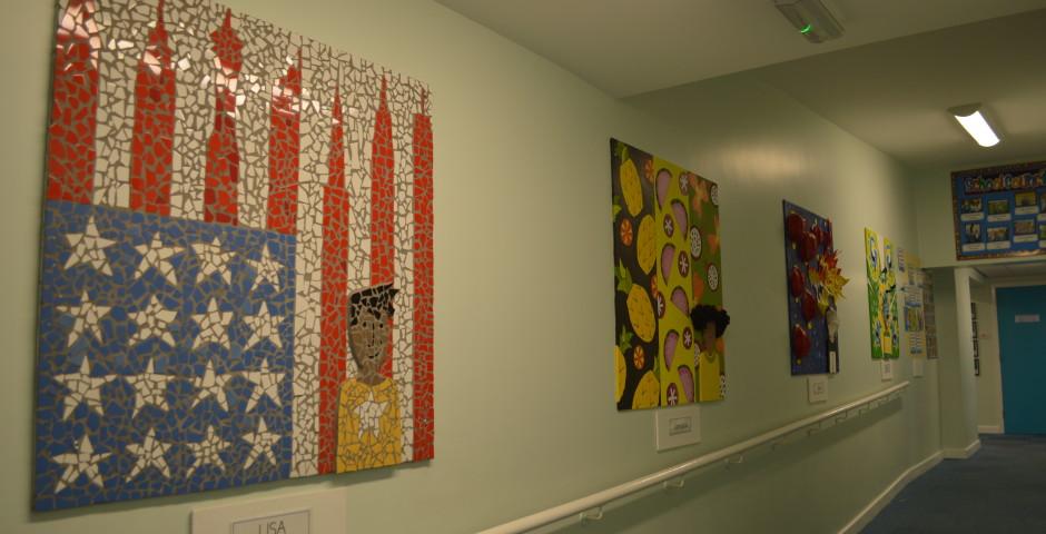 New art work for school corridor