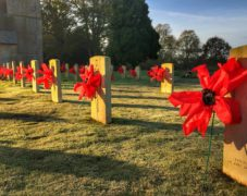 Scampton Remembered. All poppies made with local school children