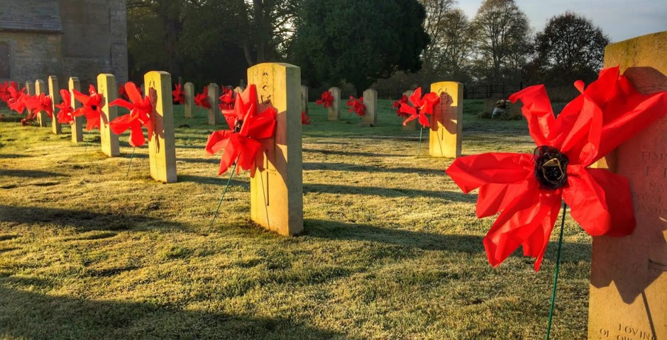 Scampton War Grave Poppies