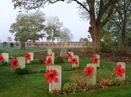 Remembrance poppies. Place at every war grave at Scampton Church