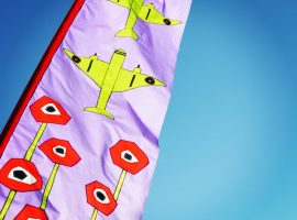 Lincolnshire Aviation Heritage flags designed with school children