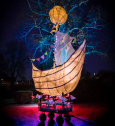 Boat of hope and dreams made for Illuminate 2017 photo credit Steve Hatton