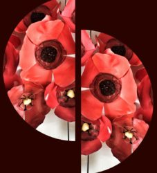 remembrance poppies, handmade with schools