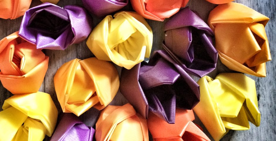 Handmade tulips - schools and museums project