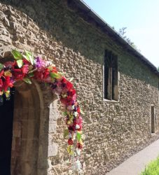 church flower arch