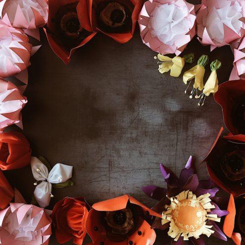 Handmade flowers - schools project