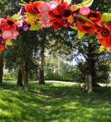 Handmade flower event arch