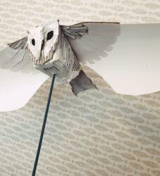 Paper owl puppet
