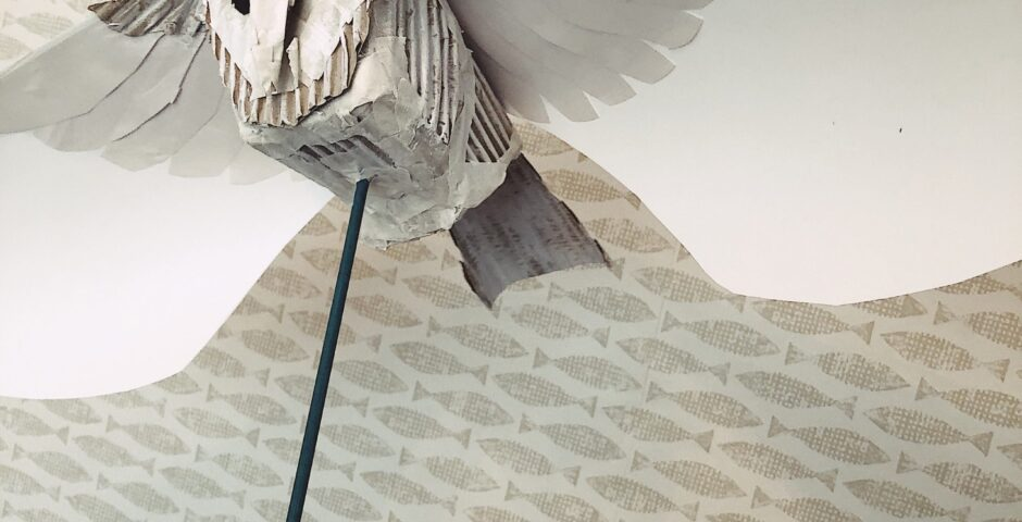 Paper owl puppet