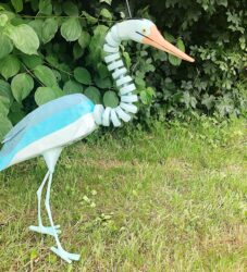 Heron puppet for film with Barmpot theatre