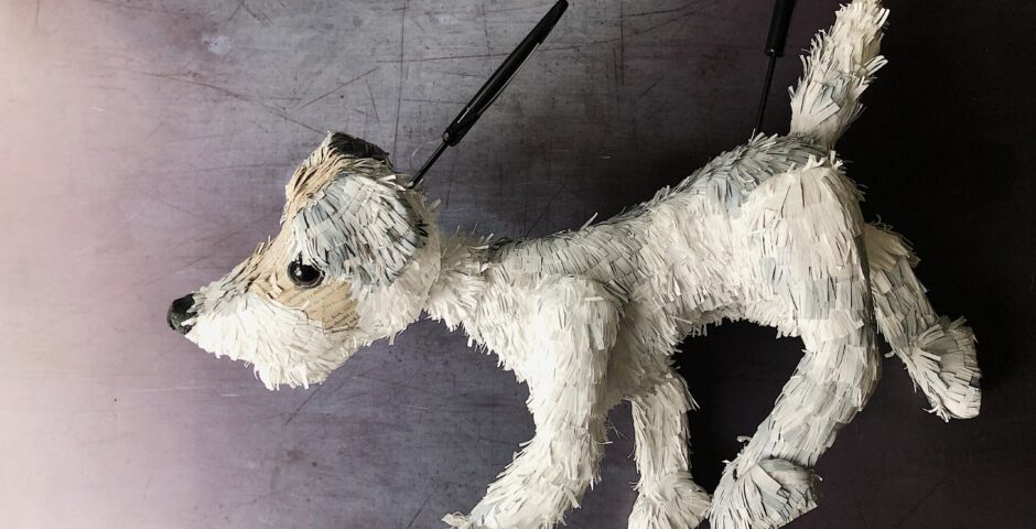 Stanley - Dog puppet for Purple Poppies Film